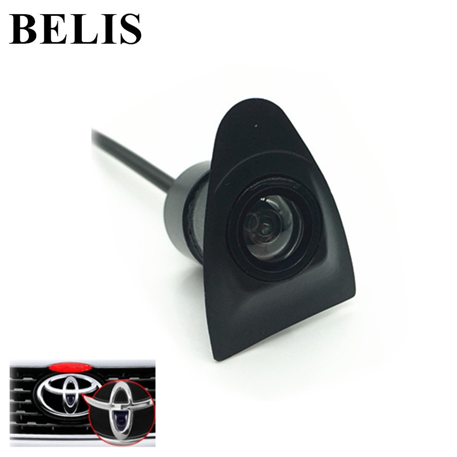 Color CCD front logo Brand Mark Camera Vehicle logo Front view camera for Toyota car front camera parking system waterproof wide angle ccd hd color for hyundai logo front camera mark emblem camera