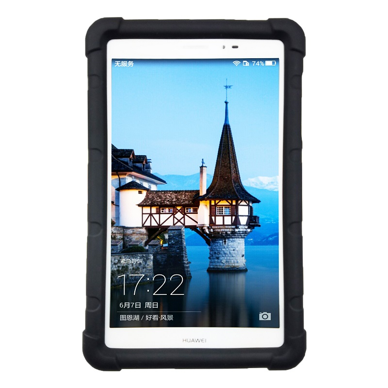 For Huawei Mediapad T1 8.0 Pro T1-821L/U/W/823W Rugged Silicone Cover T1 8.0 S8-701U/W Tablet Shockproof Cover Case