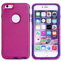 Shock Proof Heavy Duty Case Cover For IPhone 6 Plus 5 5 Plastic Rubber Combo Skin