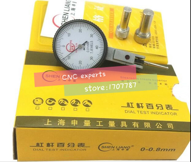 Dial indicator 0-0.8mm precision 0.01mm leverage micrometer dial test gauge reloj comparadorDial indicator 0-0.8mm precision 0.01mm leverage micrometer dial test gauge reloj comparador