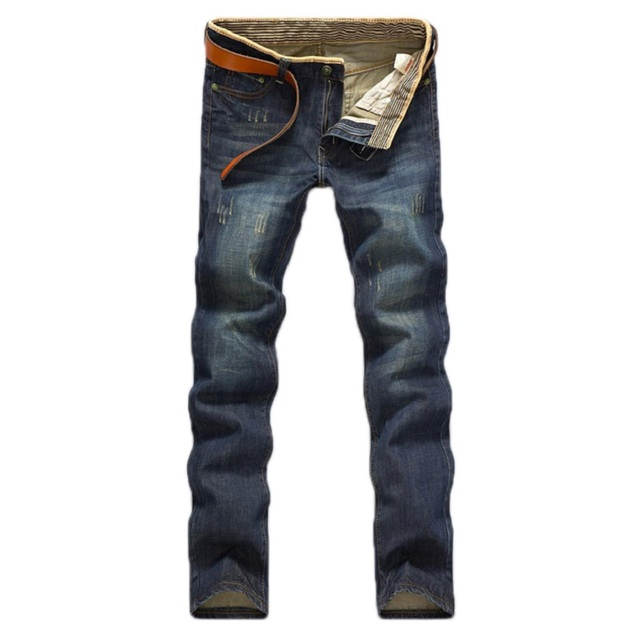 Hot Sale!2016 Men Fashion Straight Jeans Classic Denim Trousers Fall Winter Men Jeans High Quality Jeans Slim 01Y087