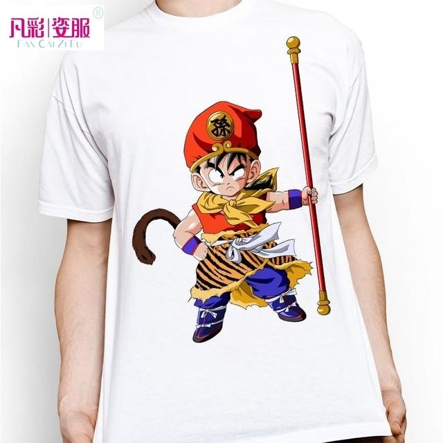 Fashion Cute Kid Gohan Wear Goku Cloth T Shirt Dragon Ball Z Tshirt Anime Cool T-shirt Casual Style Cartoon Tee