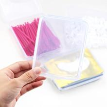 Plastic Transparent Square Fake Eyelash Storage Box Tweezer Jewelry Di