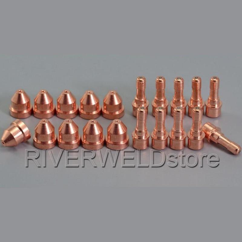10pcs C1516 Plasma Electrode HF + 10pcs C1290 Nozzle Tips Fit CEBORA CP-40 Plasma Torch
