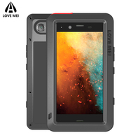 Love Mei Metal Shockproof Waterproof Case For Sony Xperia XZ1 XZ1 Compact Cover Aluminum Armor Case For Sony XZ1/XZ1 Compact