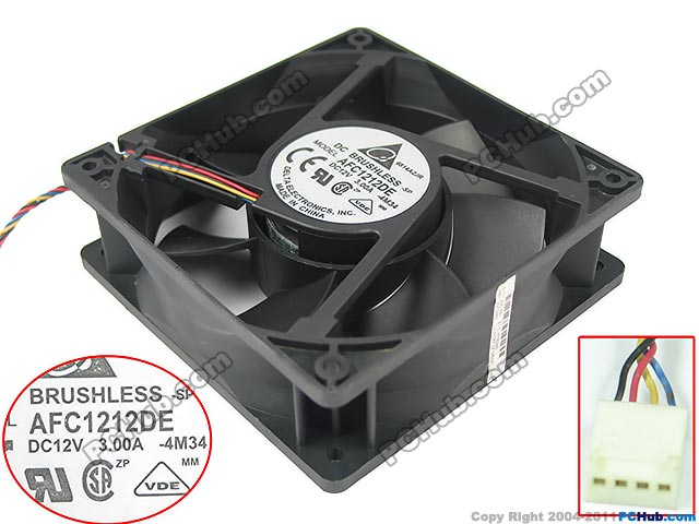 все цены на Free Shipping For Delta AFC1212DE, -4M34 DC 12V 3.00A 4-wire 4-pin 120X120X38mm Server Square fan в интернете