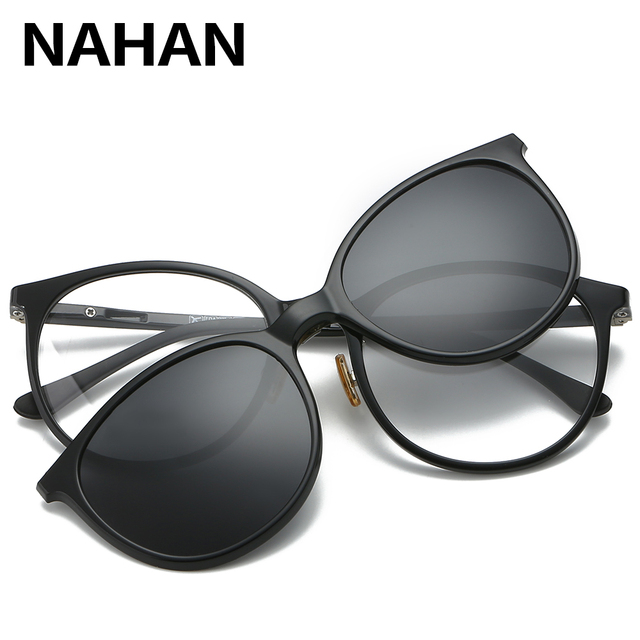 d437be547ae Women   Men Polarized Magnetic Clip Glasses Male Driving Clip On Sunglasses  Prescription Magnet Myopia Glasses