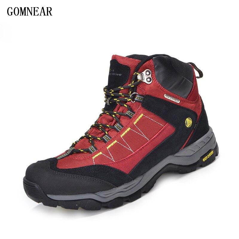 GOMNEAR Для мужчин Для женщин 100% водонепроницаемые туристические ботинки противоскользящие пустыня джунгли треккинговые ботинки Охота мужск...