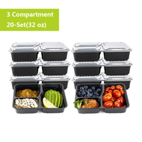 Kitchenware 20pcs/set Disposable Lunch Box Food Fruit Container Storage Outdoor Bento Picnic Disposable Food Containers