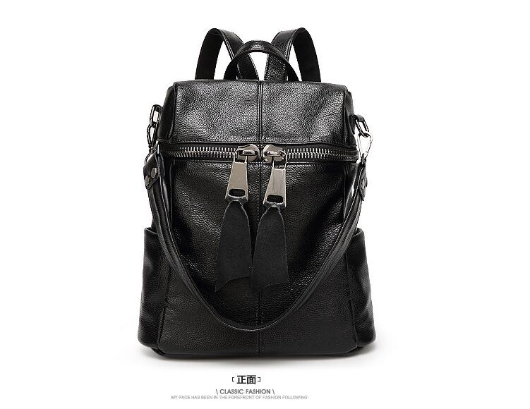 First layer genuine leather preppy style female backpack cow leather school bag women s shoulder bag