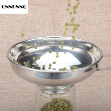 ONNPNNQ 1x Home Wide Funnel Large Caliber Filter Food Kitchen Supplies Stainless Steel