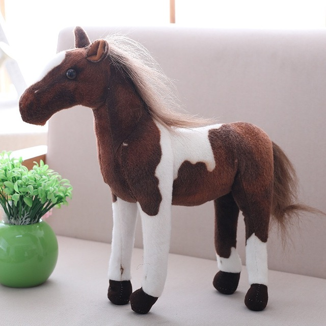 Simulation Horse Plush Toy 4 Styles Stuffed Animal Dolls High Quality Classic Toys Kids Birthday Gift Home Decor Prop Toy