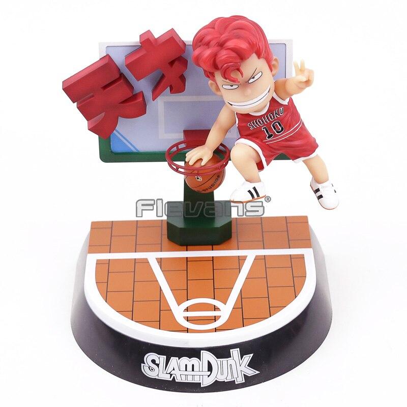 Anime Slam Dunk Hanamichi Sakuragi Q Version PVC Statue Figure Collectible Model Toy 25cm play basketball rukawa kaede nba toy slam dunk hanamichi sakuragi animation pvc action figure collection model toys