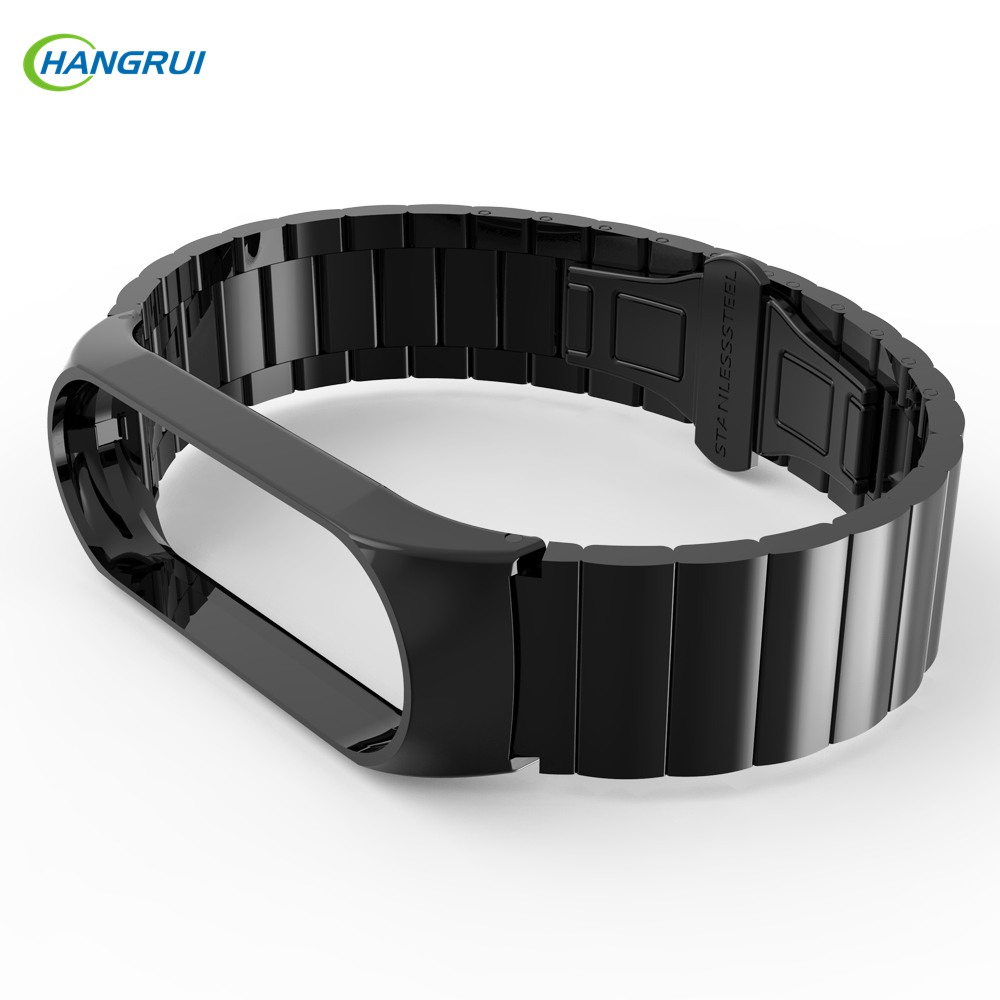 Metal Strap For Mi Band 4 Replacement Wrist Strap Stainless Steel Bracelet Wristbands For Xiaomi Miband 3 Strap Accessories