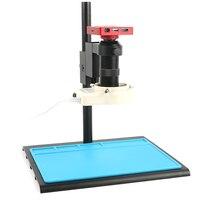 37MP 1080 P FHD электронный цифровой промышленный видео микроскоп камера 100X C крепление объектива 56 светодиодный кольцевой свет для ремонт телефо