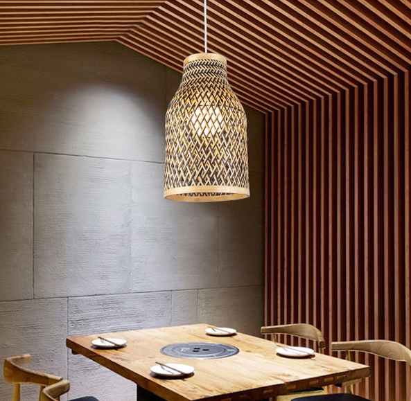 Southeast Asia retro hand knitting bamboo art Pendant Lights Modern rural E27 LED lamp for porch&parlor&stairs&corridor LHDD032 southeast asia style hand knitting bamboo art pendant lights modern rural e27 led lamp for porch