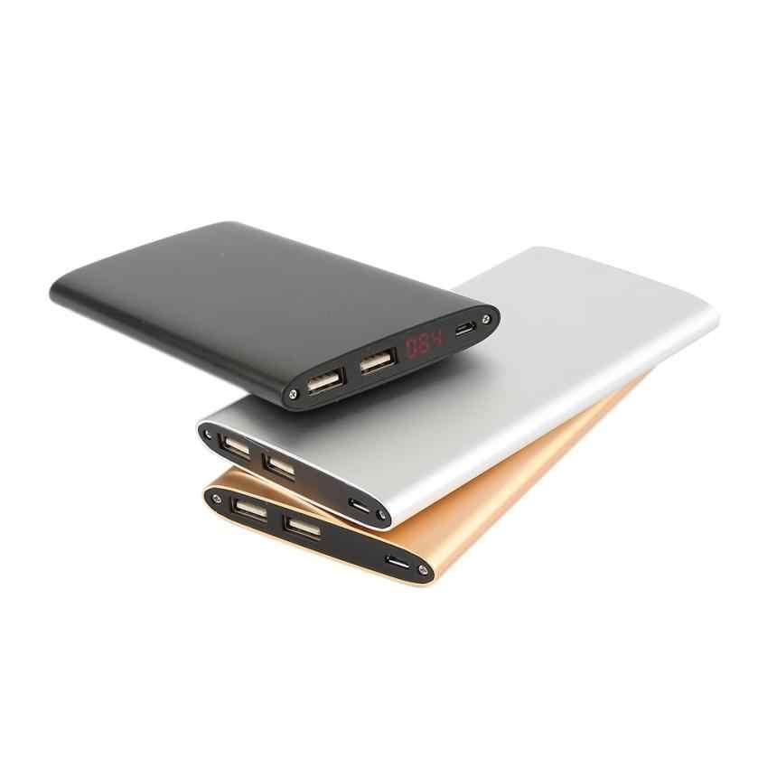 Ультратонкий 12000 мАч Портативный Dual USB внешний Алюминий корпус Батарея Зарядное устройство заряда удобно Мощность Bank для цифровых устройств