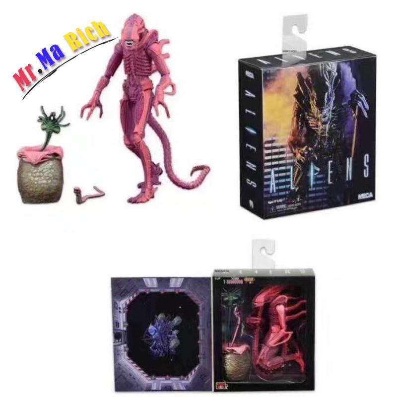 Film Avp Aliens Vs Predator Serie Alien Chestburster Facehugger Patto 1990 Gioco Aliens Warrior Action Figure Model Toy 18 cm