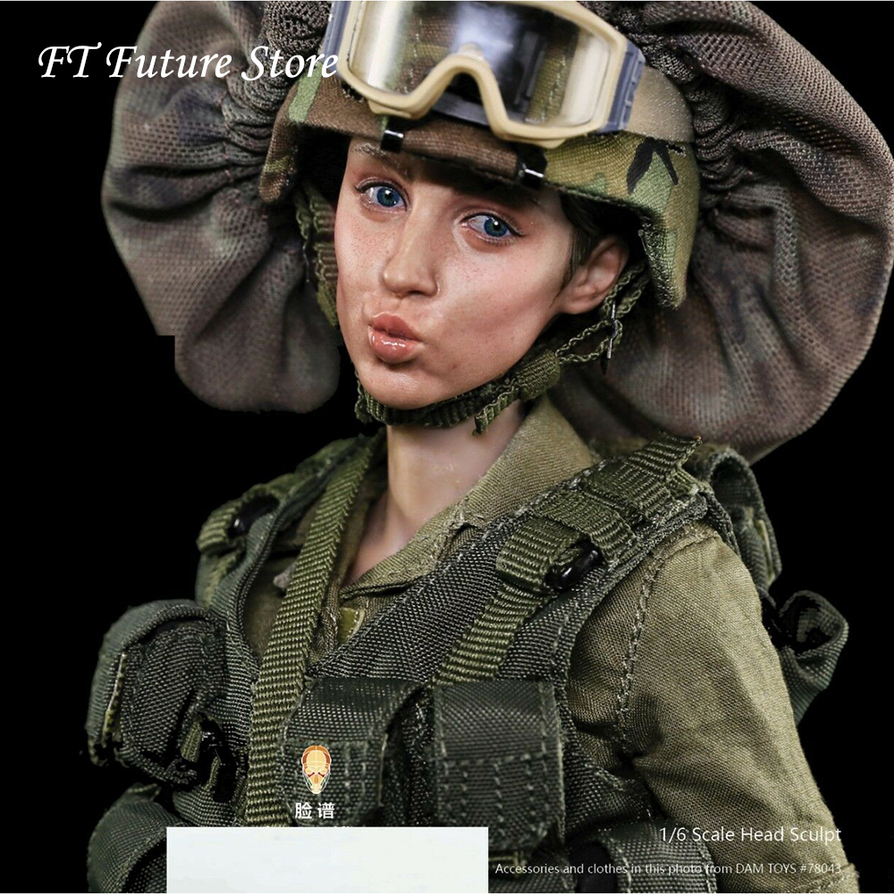 Collectible FP-H-003 1/6 Facepool Figure Female Head Sculpt Carved With Expression Model For 12''  Action Figures Body Accessory