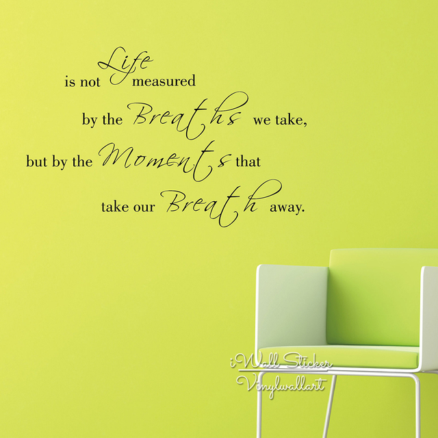 Life Quote Wall Sticker Inspirational Quote Wall Decal DIY Removable ...