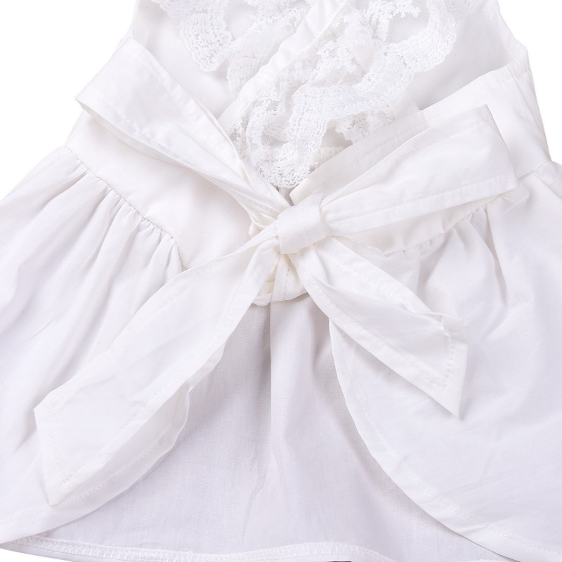 Summer Newborn Lace White Clothes Suit Baby Girls Dress Blouse Newborns PP Pants Braces Panties Infantil Clothing For Bebe