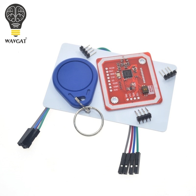 US $4 8 |1Set PN532 NFC RFID Wireless Module V3 User Kits Reader Writer  Mode IC S50 Card PCB Attenna I2C IIC SPI HSU For Arduino WAVGAT-in  Integrated