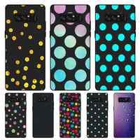 P170 Polka Dots funda de silicona negra para Samsung Galaxy Note 3 4 5 8 9 10 Plus M10 M20