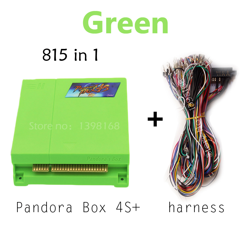 Pandora's Box 4S+ 815 in 1 Jamma Multi Game Board Video Games Console Pandora Box 4S plus HDMI 815 in 1 Jamma Arcade Game Board led lights mini arcade bundle machines 645 in 1 joystick game consoles with jamma multi games pandora 4 game pcb board