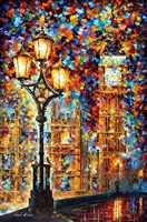 Moderna di Arte Della Parete pittura di Paesaggio londons sogni Colorful dipinti ad olio Su Tela Home Decor di Alta qualità dipinta A Mano