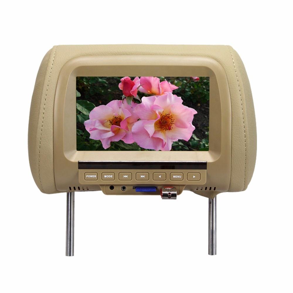 7 zoll MP5 Kopfstütze Monitor Auto Monitor TFT LED Digital Screen Player für Auto Unterstützung Sd-karte, MP5, USB Karte