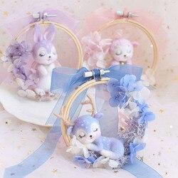 1 set Wool Felt Craft DIY Non Finished Poked Toy Doll Animal Set Handcraft Kit for Needle Material Bag Pack Shiba Inu Set