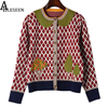 Autumn Casual High Quality Women Sweater Fruit Tree Embroidery Leaf Print 2017 Winter Fashion Designer Sweater