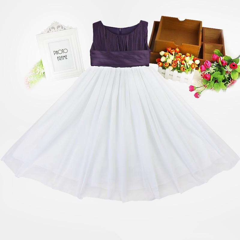 Princess Girl Dress 2017 Girls Clothes Ceremonies Party Dresses For Chiffon Stitching Long Evening Kids Formal