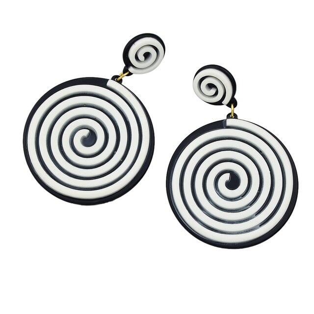 Hypnotic Rock Style Earrings