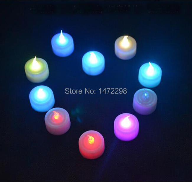 NEW 12-Pcs Milt-colors Flameless Flickering LED Tea Light Battery Candles Wedding Party Free Shipping
