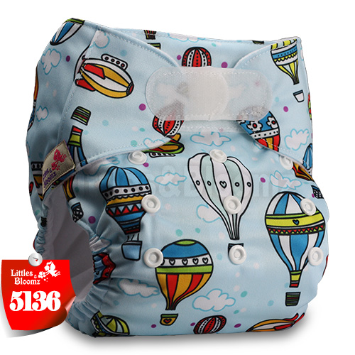 [Littles&Bloomz] Детские Моющиеся Многоразовые, настоящая стандартная ткань, застежка-липучка, карман для подгузников, пеленки, обертывание, подходит для рождения в горшке - Цвет: 5136