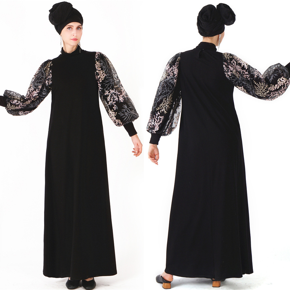 Luxury  Embroidery Abaya Muslim Maxi Dress Mesh Cardigan Tunic Kimono Long Robes Jubah Middle East Ramadan Arab Islamic Prayer