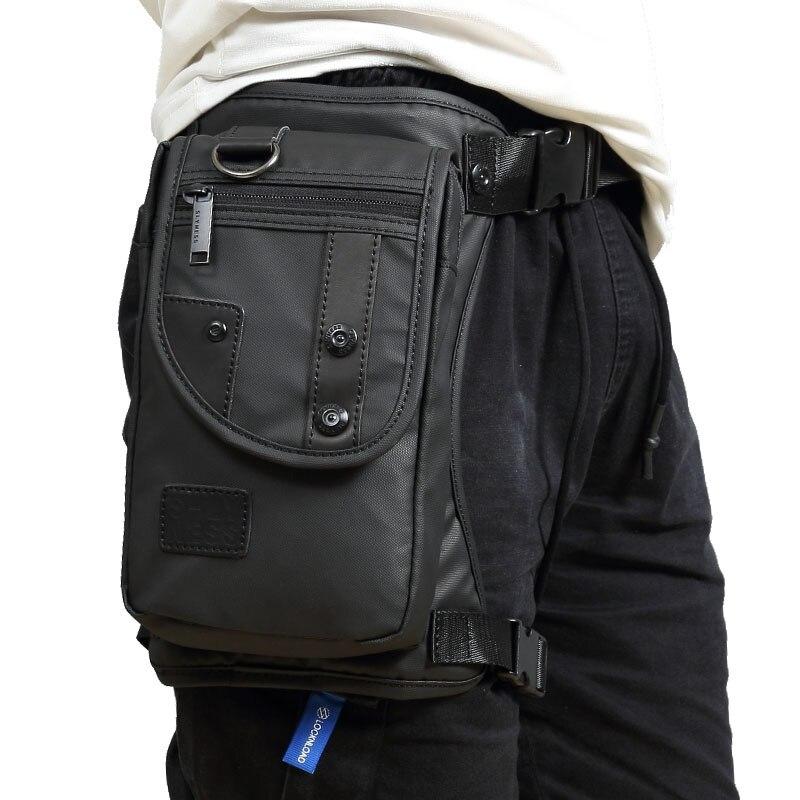 Hombres Oxford gota pierna bolsa de cinturón de cadera Bum Fanny paquete Cruz cuerpo bolsas de hombro para viajes táctico motocicleta ciclismo