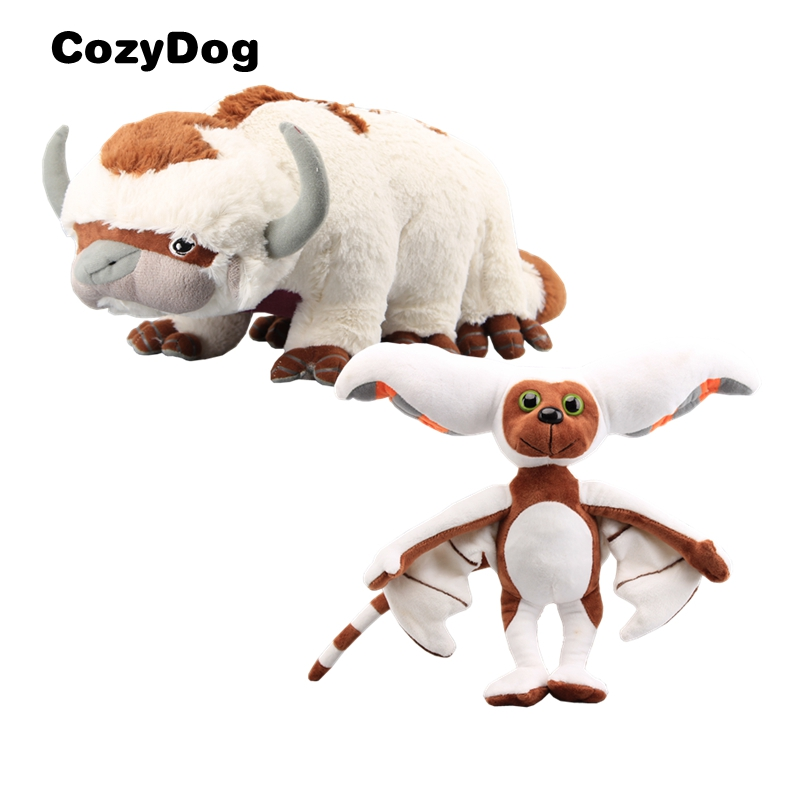 Deluxe Avatar Last Appa & Momo Plush Toy Soft Stuffed Animals Cattle and  Bat Doll Children Appa Plush Toys BestQuality