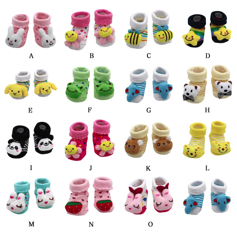 3025 3026P MACAMP 2018 new clothing Cartoon Newborn Baby Girls Boys Anti Slip Socks Slipper Shoes
