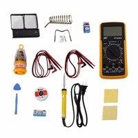 11Pcs Set Handheld Universal Meter General Manual Range Digital Multimeters Volt Meter With HD LCD Screen
