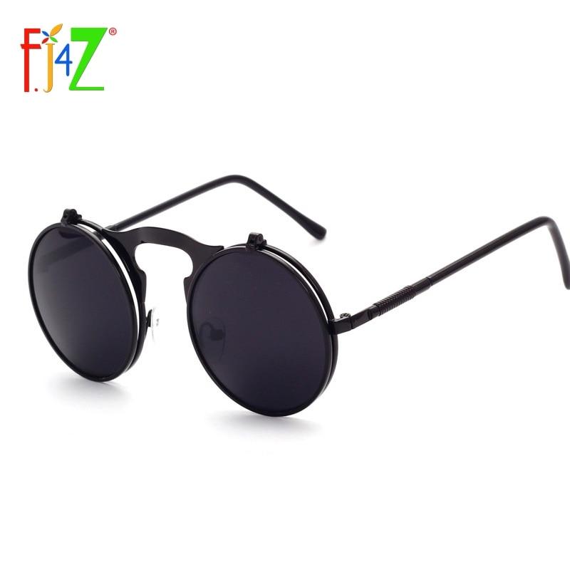 F.J4Z fashion cool designer round metal frame UV400 protection flip top Sunglasses for men & women's oculos sunglasses wholesale