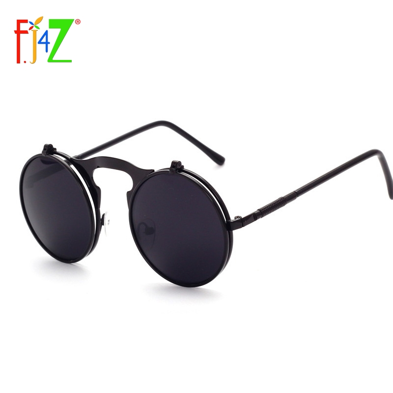 F.J4Z fashion cool designer round metal frame UV400 protection flip top Sunglasses for men & women's oculos sunglasses wholesale