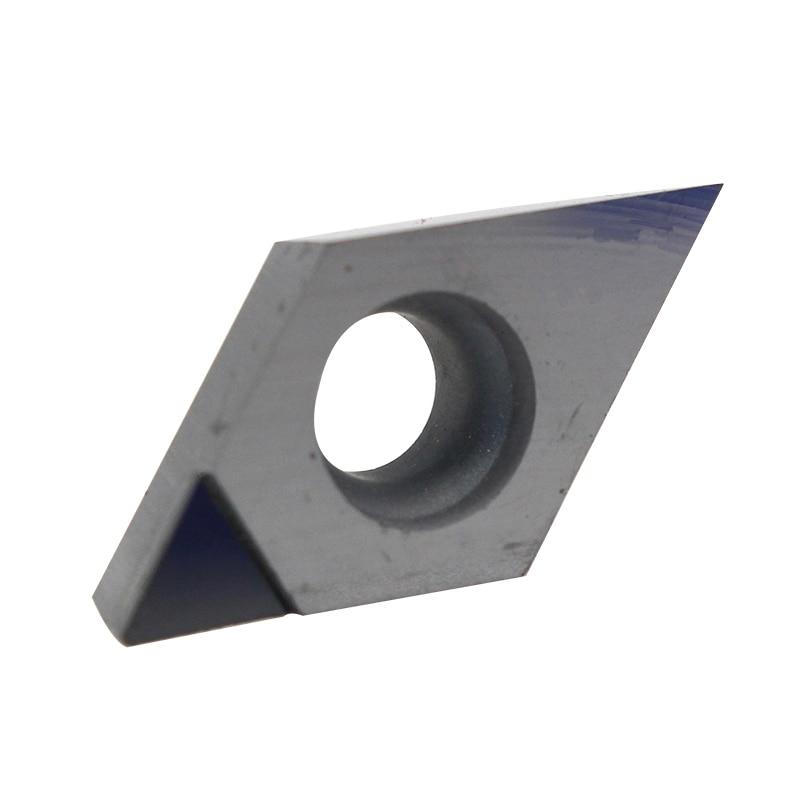 Купить с кэшбэком 1Pc DCGT070202 DCGT070204 DCGT11T302 DCGT11T304 DCGT11T308 PCD CBN Diamond Inserts Blade Internal Turning Tool Lathe CNC