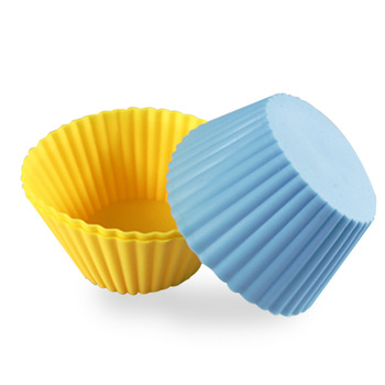 7cm Round Silicone Cake Cup Cupcake Mold Muffin Cup 8 Colors Party Accessory Baking Cup W8014