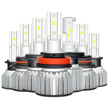 Mini Bright H7 LED H4 LED Bulb H11 H8 H1 CSP Car Light Headlight Bulb HB3 9005 9006 H9 HB4 8000LM 80W 6000K 12V 24V Automobile eurs 7s h4 h7 led car headlight automobile led bulb xhp50 80w 8000lm h1 h11 9005 9006 9012 car styling 6500k dc12 24v