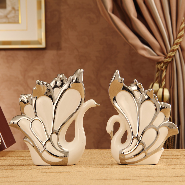 Modern Wedding Decoration Ideas: Ceramic Little Swan Decoration Home Fashion Modern Brief