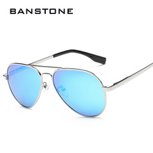 BANSTONE Children Pilot Sunglasses Metal Frame Polarized Lenses Boys