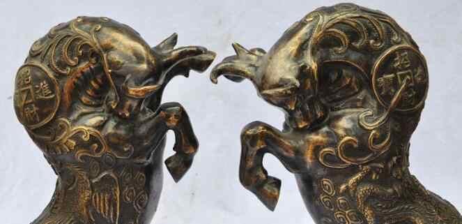 S06414 الصين البرونزي الثروة مصارعة الثيران سوق الأسهم ستريت ox تمثال الثور الماشية