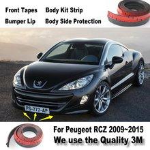 Auto Stoßstange Lippen Für Peugeot RCZ 206 207 208 2008 301 307 308 405 406 407 408/Frontspoiler Deflektor/Body Kit/Streifen rock